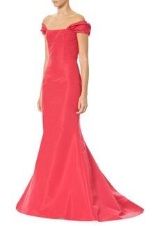 Carolina Herrera Off-The-Shoulder Trumpet Gown