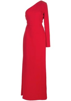 Carolina Herrera one-shoulder silk gown