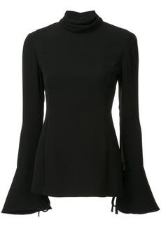 Carolina Herrera open-back fluted blouse