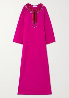 Carolina Herrera Oversized Embellished Crepe Gown
