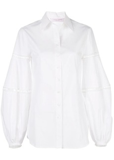 Carolina Herrera oversized lace-trimmed shirt