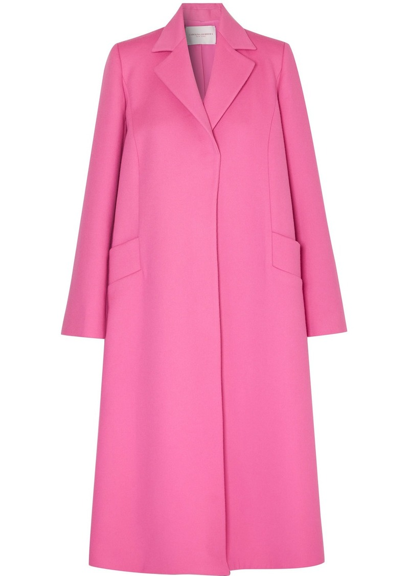 Carolina Herrera Oversized Wool And Cashmere-blend Felt Coat