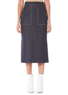 Carolina Herrera Pencil Midi Skirt with Pockets