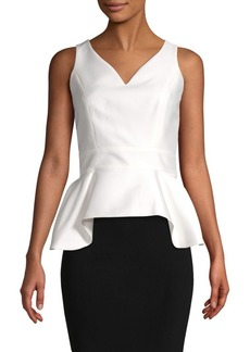 Carolina Herrera Peplum Sleeveless Top