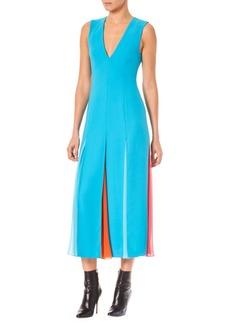 Carolina Herrera Pleated Midi Dress