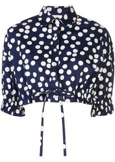 Carolina Herrera polka dot blouse