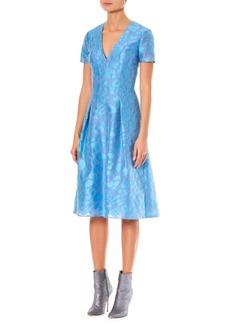 Carolina Herrera Printed Silk A-Line Dress