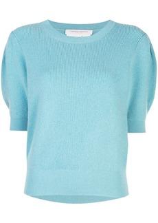 Carolina Herrera puff-sleeve knitted top