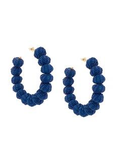 Carolina Herrera raffia beads earrings