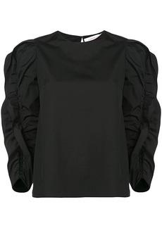 Carolina Herrera ruffle long-sleeve sweater