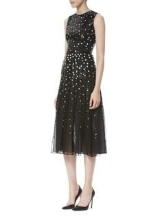Carolina Herrera Sequined Chiffon Dress