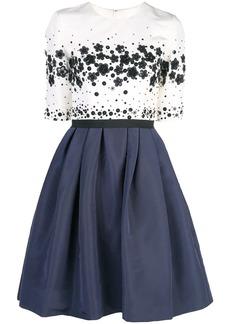 Carolina Herrera sequined flared silk dress