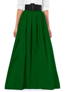 Carolina Herrera Silk A-Line Maxi Skirt