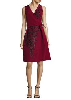 Carolina Herrera Silk Fallie Embroidered Cocktail Dress