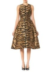 Carolina Herrera Sleeveless Animal-Print Tea Dress