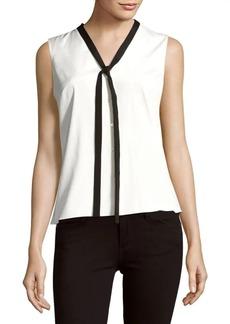 Carolina Herrera Sleeveless Silk-Blend Shirt