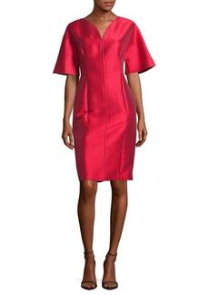 Carolina Herrera Solid Drape Dress