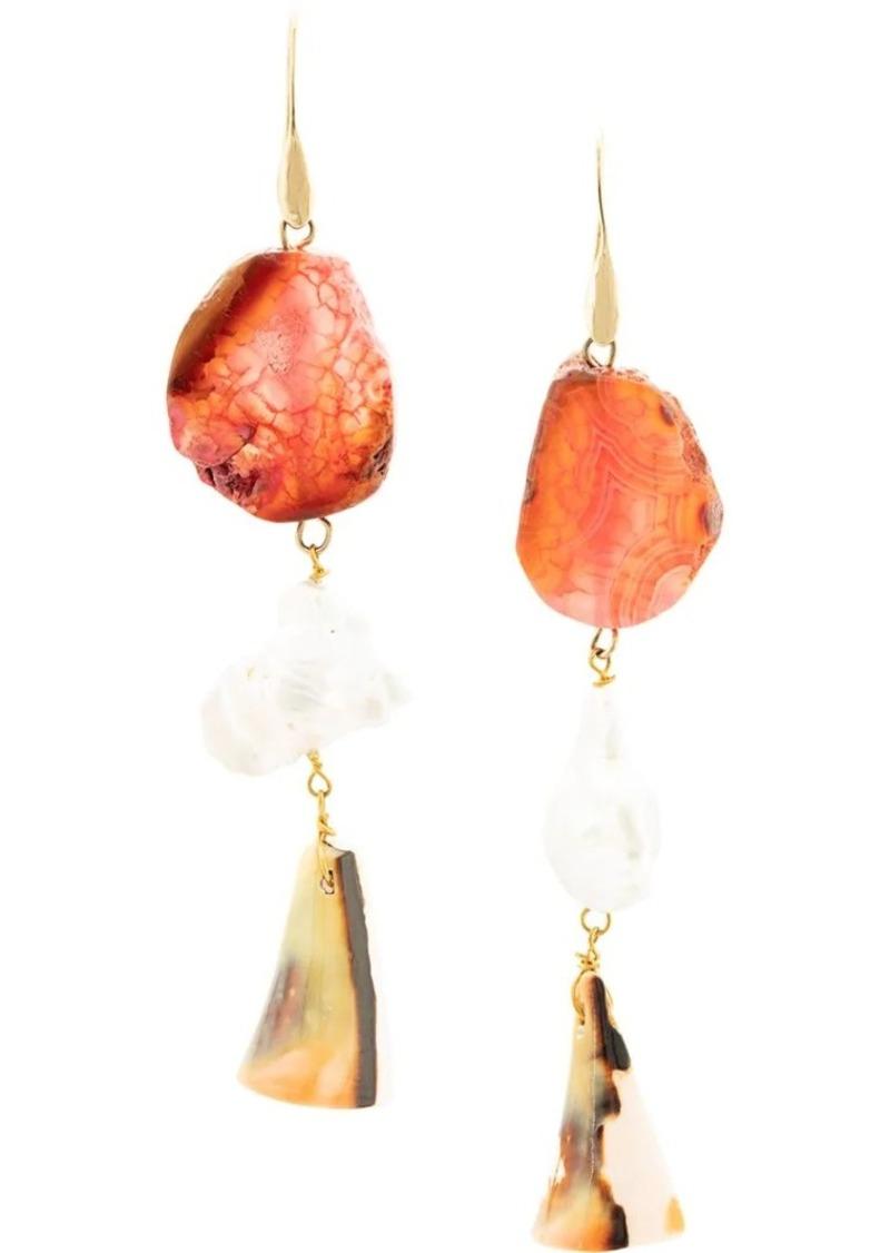 Carolina Herrera stones drop earrings