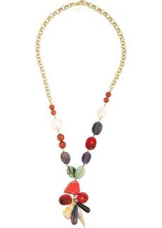 Carolina Herrera stones pendant necklace
