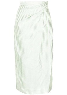 Carolina Herrera striped pencil skirt