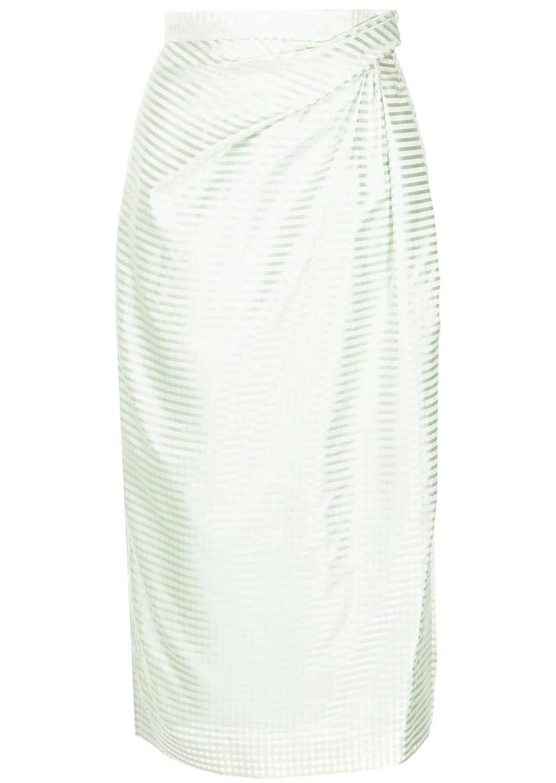 Carolina Herrera striped pencil skirt