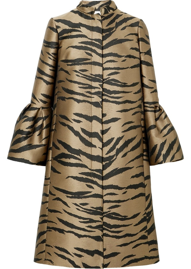 Carolina Herrera Tiger-jacquard Coat