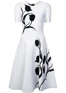 Carolina Herrera tulip intarsia knit dress