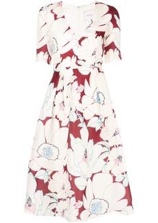 Carolina Herrera V-neck print dress