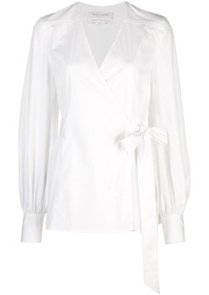 Carolina Herrera V-neck wrap blouse