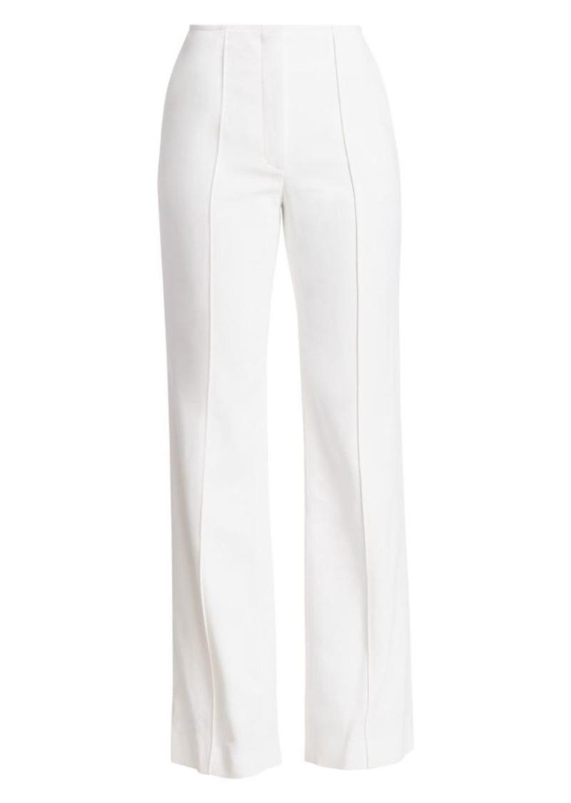 Carolina Herrera Wide-Leg Stretch-Wool Pants