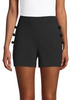 Carolina Herrera Wool-Blend Button Shorts