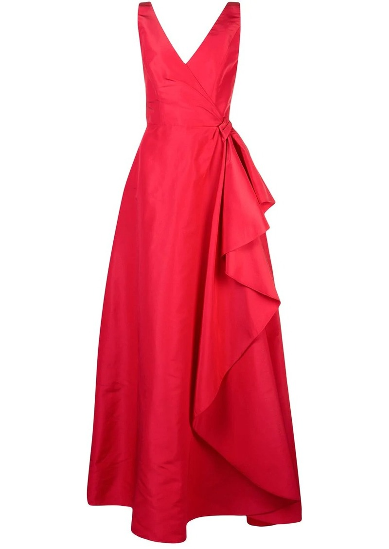 Carolina Herrera wrap-style draped gown
