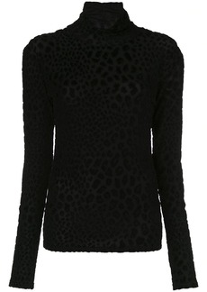 Caroline Constas animal-texture turtleneck top