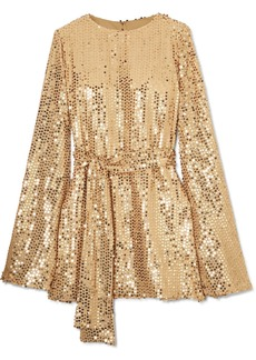 Caroline Constas Anya Sequined Georgette Mini Dress