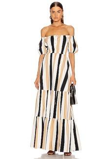 Caroline Constas Bardot Maxi Dress
