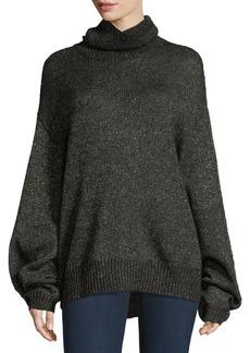 Caroline Constas Jasper Turtleneck Metallic Mohair Knit Sweater