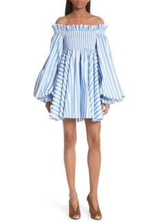 Caroline Constas Kora Stripe Off the Shoulder Dress