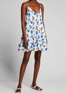 Caroline Constas Laurel Flounce Mini Dress