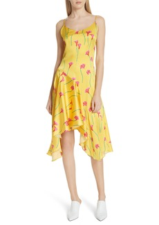 Caroline Constas Marie Stretch Silk Slipdress