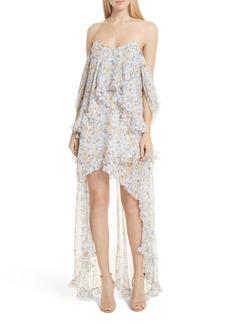 Caroline Constas Melina Off the Shoulder High/Low Dress