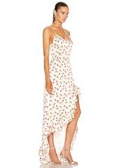 Caroline Constas Ruffle Slip Gown