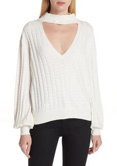 Caroline Constas Sequin Cutout Sweater