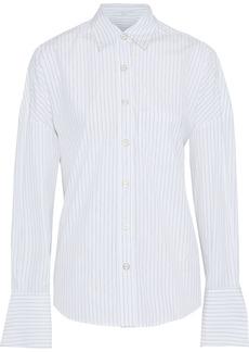 Caroline Constas Woman Linda Pinstriped Cotton-poplin Shirt White