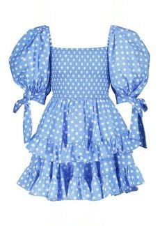 Caroline Constas Finley polka-dot cotton-blend minidress