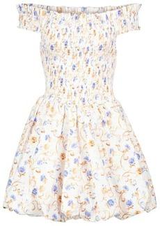 Caroline Constas Floral cotton-blend minidress