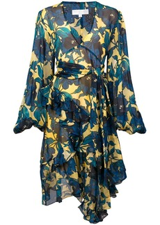 Caroline Constas floral printed flared dress