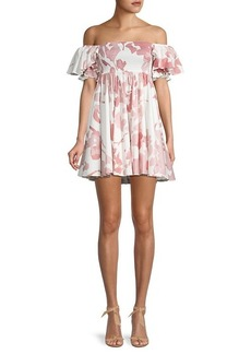 Caroline Constas Hanna Printed Babydoll Dress