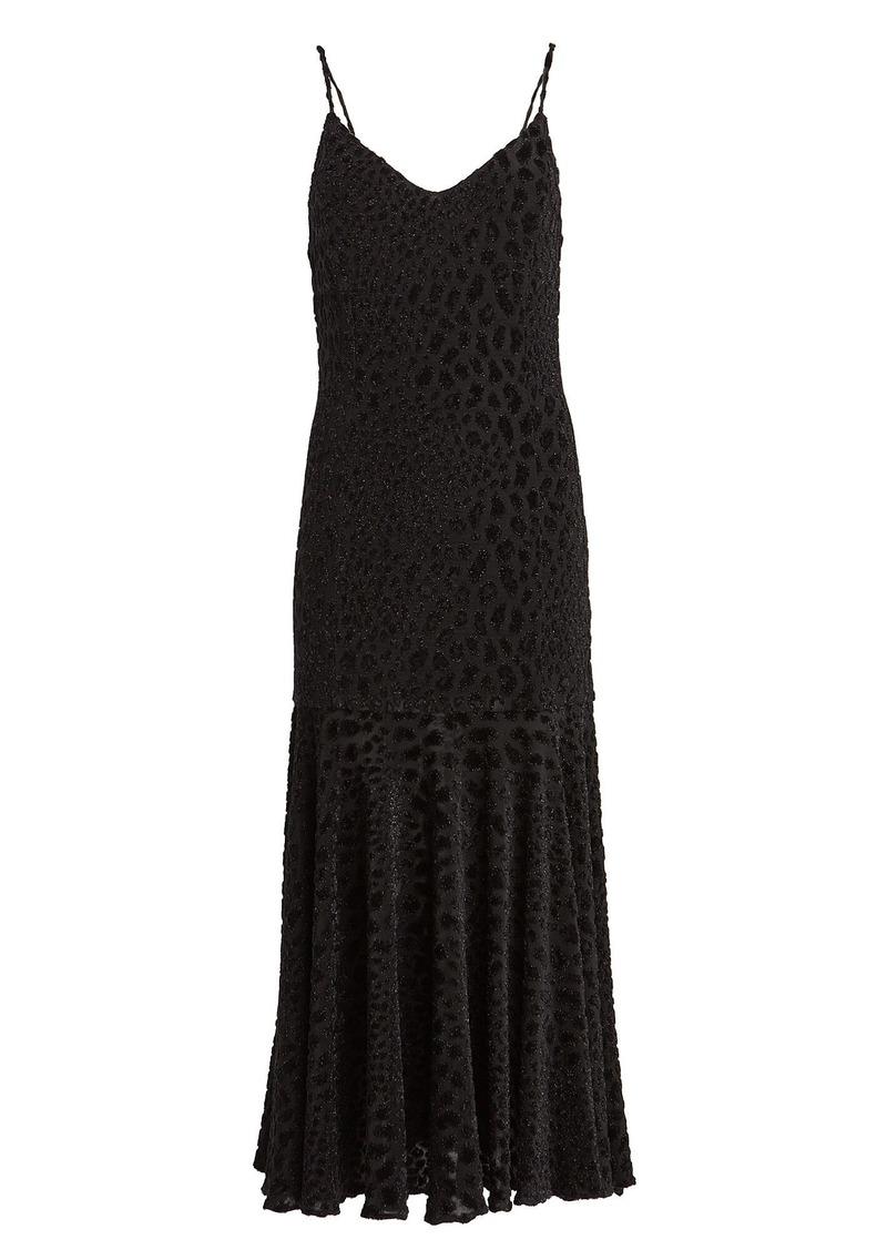 Caroline Constas Kai Leopard Devoré Slip Dress