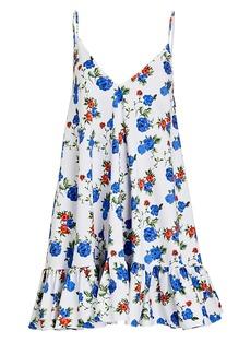 Caroline Constas Laurel Floral Sleeveless Mini Dress