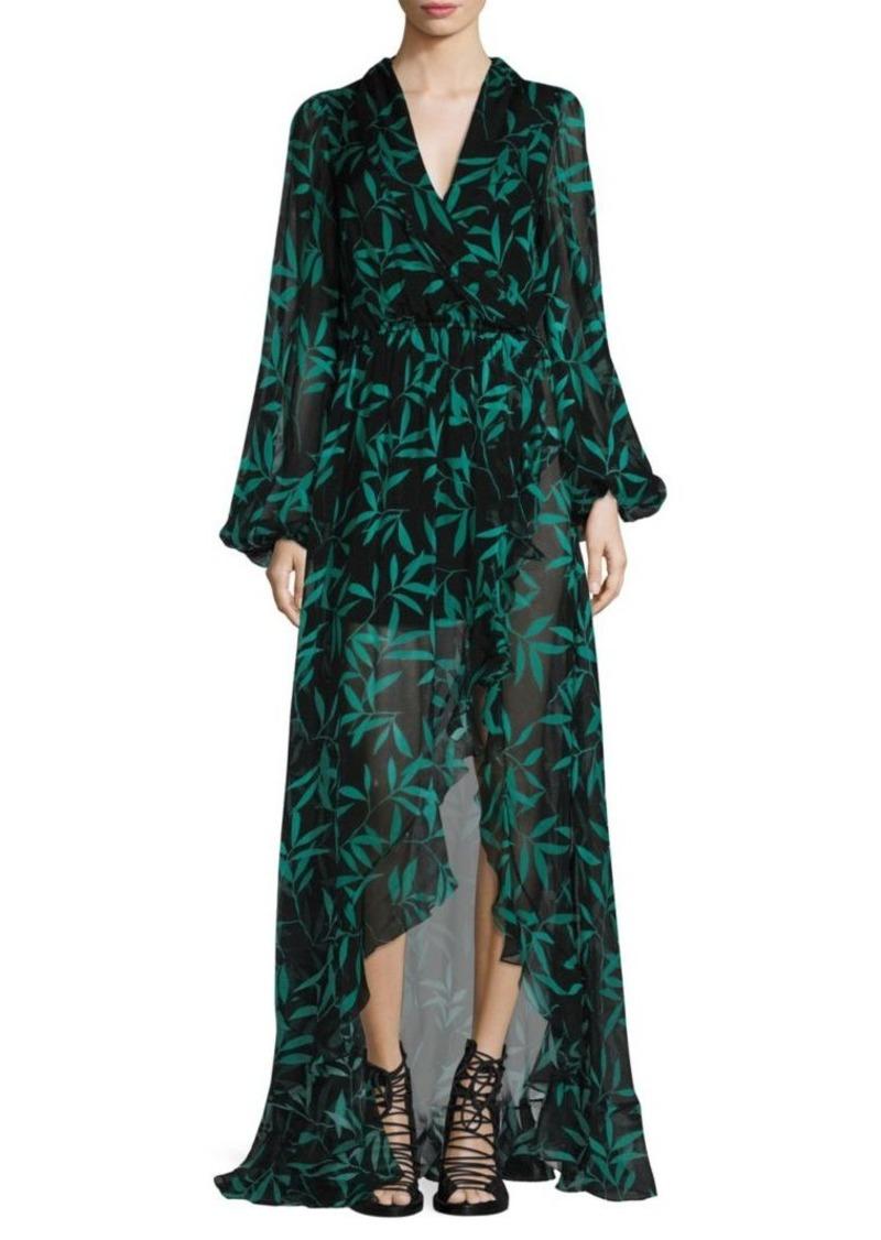 Caroline Constas Olivia Leaf-Print Dress